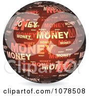 Clipart Red Money Sphere Royalty Free Vector Illustration by Andrei Marincas