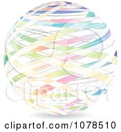 Clipart Sphere Of Gradient Colorful Ribbons Royalty Free Vector Illustration