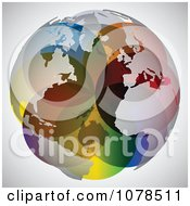 Clipart Colorful World Map Sphere - Royalty Free Vector Illustration by Andrei Marincas #COLLC1078511-0167
