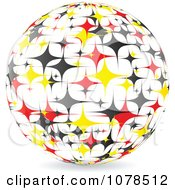 Clipart Starry German Sphere Royalty Free Vector Illustration by Andrei Marincas
