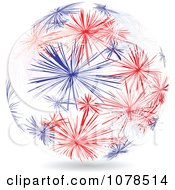 Clipart Abstract American Fireworks Sphere Royalty Free Vector Illustration by Andrei Marincas
