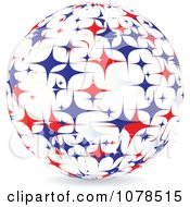 Clipart Abstract American Stars Sphere Royalty Free Vector Illustration