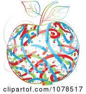 Clipart Colorful Abstract Apple Royalty Free Vector Illustration