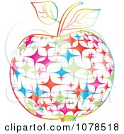 Clipart Colorful Star Apple Royalty Free Vector Illustration by Andrei Marincas