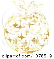 Clipart Gold Starry Apple Royalty Free Vector Illustration by Andrei Marincas