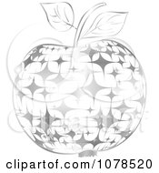 Clipart Silver Starry Apple Royalty Free Vector Illustration by Andrei Marincas