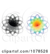 Clipart Colorful And Black And White Design Royalty Free Vector Illustration by Andrei Marincas