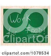 Clipart Work For Food Drawing On A Chalk Board Royalty Free Vector Illustration