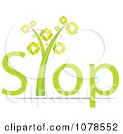 Clipart Green Stop Plant Royalty Free Vector Illustration by Andrei Marincas