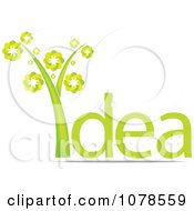 Clipart Green Idea Plant Royalty Free Vector Illustration by Andrei Marincas