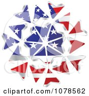 Clipart American Stars And Stripes Arrows Royalty Free Vector Illustration
