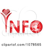 Clipart Red INFO With Heart And A Globe Royalty Free Vector Illustration by Andrei Marincas