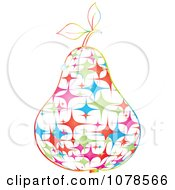 Clipart Colorful Starry Pear Royalty Free Vector Illustration by Andrei Marincas