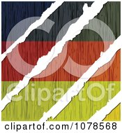Clipart White Tears Through A Wooden German Flag Royalty Free Vector Illustration by Andrei Marincas