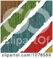 Clipart White Tears Through Colorful Wood Royalty Free Vector Illustration