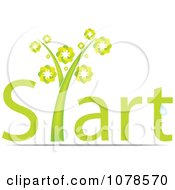 Clipart Green Start Plant Royalty Free Vector Illustration by Andrei Marincas