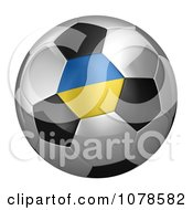 Clipart 3d Ukraine Flag On A Traditional Soccer Ball Royalty Free CGI Illustration
