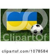 Clipart 3d Soccer Ball And Ukraine Flag On Grass Royalty Free CGI Illustration