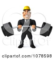 Clipart 3d Strong Builder Man Lifting A Heavy Barbell 1 Royalty Free CGI Illustration