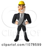 Clipart 3d Strong Builder Man Royalty Free CGI Illustration