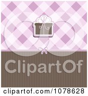 Clipart Brown And Purple Gift Background With Plaid And Stripes Royalty Free Vector Illustration