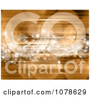 Clipart White Stars And Bokeh Lights Over Gold Royalty Free Illustration