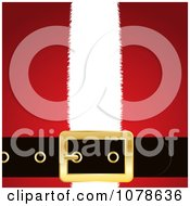 Clipart 3d Santa Belt Buckle Over A Red And White Suit Royalty Free Vector Illustration