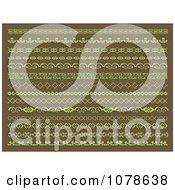 Clipart Green And Brown Page Borders And Rules Royalty Free Vector Illustration by KJ Pargeter