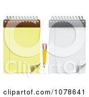 Clipart Stubby Pencil With White And Yellow Notepads Royalty Free Vector Illustration