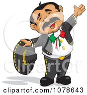 Clipart Happy Mexican Rancherito Man Royalty Free Vector Illustration