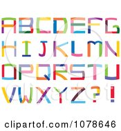 Clipart Colorful Capital Letters Royalty Free Vector Illustration