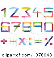 Colorful Numbers And Math Symbols