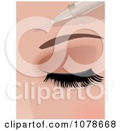 Clipart 3d Botox Needle Injecting Into A Womans Forehead Royalty Free Vector Illustration