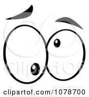 Clipart Black And White Pair Of Crazy Eyes Royalty Free Vector Illustration