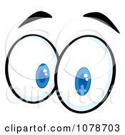 Clipart Pair Of Surprised Eyes Royalty Free Vector Illustration