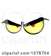 Clipart Pair Of Evil Eyes Royalty Free Vector Illustration