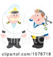 Clipart Male Captain And Sailor Royalty Free Vector Illustration by Alex Bannykh