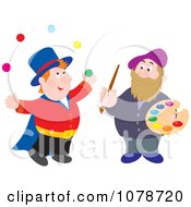 Clipart Juggler And Artist Royalty Free Vector Illustration by Alex Bannykh