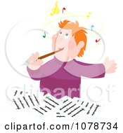 Clipart Composer Writing And Thinking Royalty Free Vector Illustration by Alex Bannykh #COLLC1078734-0056