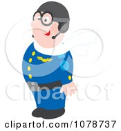 Clipart Proud Pilot Royalty Free Vector Illustration by Alex Bannykh
