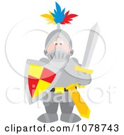 Clipart Knight In Full Armor Royalty Free Vector Illustration by Alex Bannykh