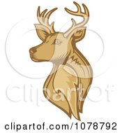 Clipart Brown Deer Stag Head Royalty Free Vector Illustration