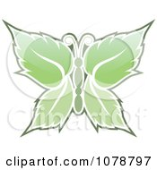 Clipart Mint Leaf Butterfly Royalty Free Vector Illustration by Any Vector