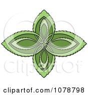 Clipart Celtic Leaf Design Royalty Free Vector Illustration