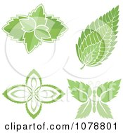 Clipart Mint Leaf Designs Royalty Free Vector Illustration by Any Vector