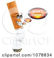 Clipart Cigarette Saying Dont Smoke Royalty Free Vector Illustration