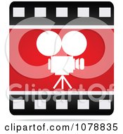 Clipart Film Strip Camera Cinema Icon Royalty Free Vector Illustration by Andrei Marincas
