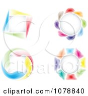 Clipart Colorful Round And Square Design Elements Royalty Free Vector Illustration