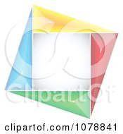 Clipart Colorful Square Logo Royalty Free Vector Illustration