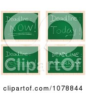 Clipart Deadline Chalkboards Royalty Free Vector Illustration by Andrei Marincas